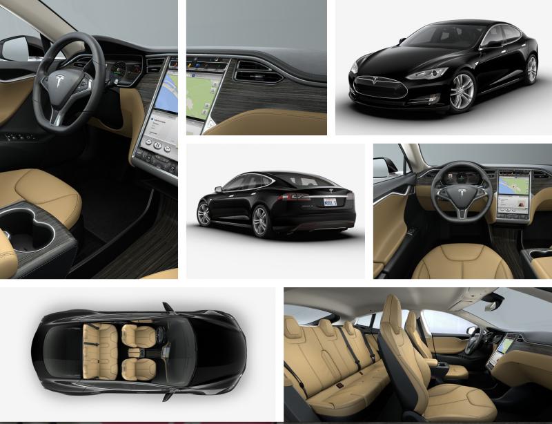 2015 Tesla Model S Black
